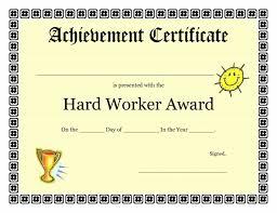 word certificate of achievement template best u0026 professional