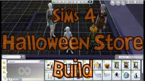 the sims 4 halloween store build using the sims 4 spooky stuff