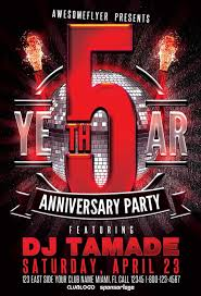 best of anniversary flyer templates free and premium flyer