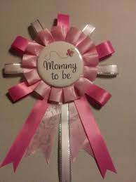 how to make a baby shower corsage pink and white to be baby shower corsage pin