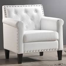 White Chairs For Living Room White Living Room Chairs Marceladick