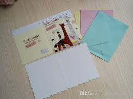 creative fold small cards with envelopes wholesale price to sell