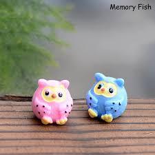 2 color funny cute mini resin owl bird animal action figure toys