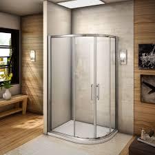 aqua spa deluxe 1200mm x 800mm offset quadrant shower enclosure