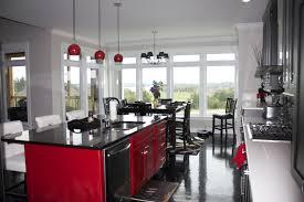 kitchen dazzling red kitchen with modern white kitchen modern