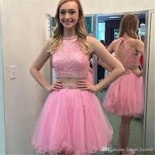 light pink short dress blush pink short 2017 cute two piece homecoming dresses open back