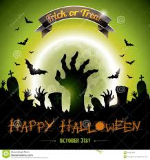 green halloween background vector illustration on a halloween zombie party th royalty free