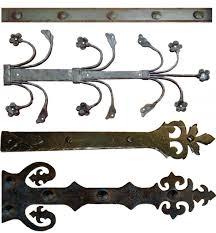 door decorative strap hinges ornate cast iron dummy strap hinge