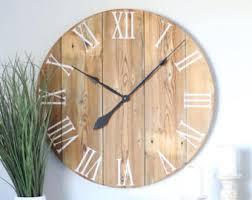 large wood wall farmhouse wall clock rustic wall clock wall clock large