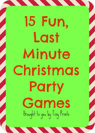 Games To Play In Christmas Parties - fun last minute christmas party games