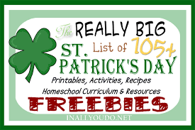 really big list of 105 st patrick u0027s day freebies and activities