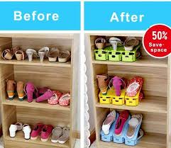 shoe organizer easy shoes organizer double your shoe storage space in a snap