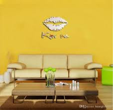wholesale acrylic kiss lip shape diy mirror wall sticker use wall stencils and decals properly can bring big changes your house flower grass stickers for the spring blue yellow