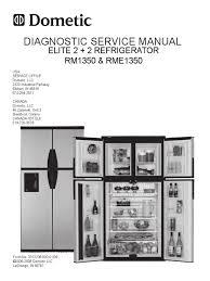service manual domestic rm1350 refrigerator vacuum tube