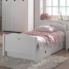 chambre à coucher fly cuisine lit avec rangement lit pour enfant avec tiroir en blanc