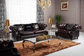 Leather Sofa Set Casa D6022 Transitional Chocolate Italian Leather Sofa Set