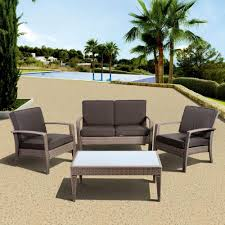 4 Piece Wicker Patio Furniture - atlantic contemporary lifestyle florida deluxe 4 piece all weather