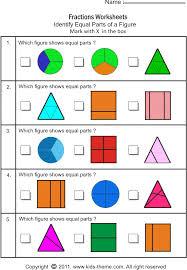 printable fraction worksheets for grade 4 equal parts fractions worksheets