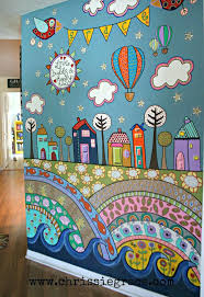 wall ideas jungle wall murals do it yourself diy wall artwork do it yourself removable wall decals funky detailed painted wall mural using acrylic craft paints do