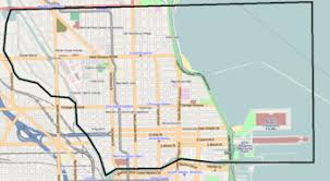 chicago map side near side chicago