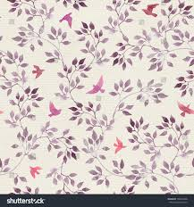 Hand Painted Wallpaper by Seamless Retro Wallpaper Cute Birds Ditsy Stock Illustration