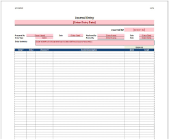Journal Entry Templates journal entry template spreadsheetshoppe