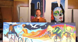 modern mural the man behind the mural joe pagac my local news us