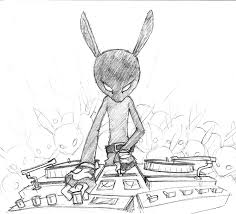 dj black rabbit sketch by jasinski on deviantart