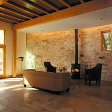 natursteinwand wohnzimmer einrichten wohnzimmer mit natursteinwand bild 38 schöner wohnen