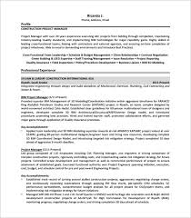 Project Resume Example by Project Manager Resume Template U2013 8 Free Word Excel Pdf Format