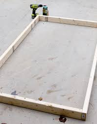 Build A Platform Bed Frame Plans by Diy Twin Platform Bed