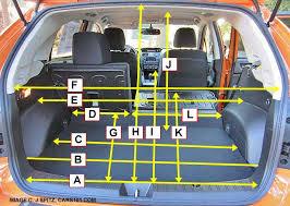 honda crv interior dimensions subaru xv crosstrek cargo area measurements and dimensions my
