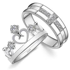 Wedding Rings His And Hers by His U0026 Hers Matching Couple Sterling Silver Engagement Rings Bands
