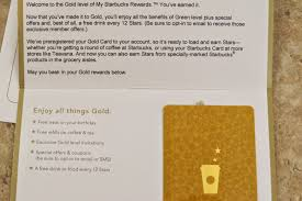 starbuck gold card my starbucks gold card it has grown on me