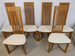 50s Dining Chairs Furniture Retro Dining Chairs Beautiful Set Of Six Oak Highback