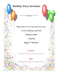 Invitation Card Sample Wording Create Birthday Party Invitations Vertabox Com