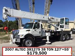 used kenworth trucks for sale in florida 2007 international ht570 w altec 38 ton ac38127s crane for sale