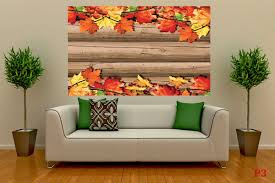 mural structure wood and autumn leaves wall mural structure wood and autumn leaves