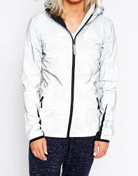 bench silver reflective water proof jacket with hood in metallic