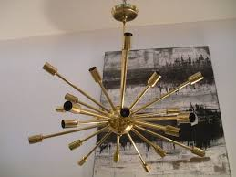 vintage brass sputnik light fixture at 1stdibs