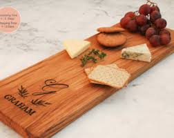 monogram cheese board unique bridal shower gift personalized cheese board engraved