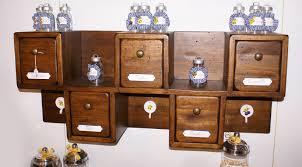 portaspezie legno mobiletto 5 cassetti massello mobili lapi shop