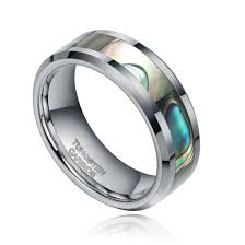 mens tungsten wedding bands 6 8mm tungsten ring wedding band engagement ring silver with