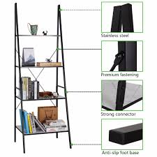 Bookcase With Ladder Lifewit 4 Shelf Ladder Bookcase Storage Rack Library Book