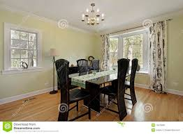 dining room with light green walls royalty free stock photo