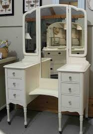 Vanity Desk Contemporary White Bedroom Vanity Set Table Drawer Bench Ilana