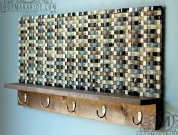 glass tile coat rack by shop makarios modern coat rack