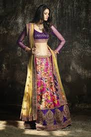 indian women party ethnic wear lehenga saree designs 2014 2015