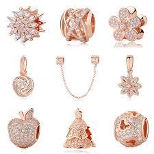 sterling silver charm bead bracelet images Authentic original 925 sterling silver charm bead rose gold family jpg