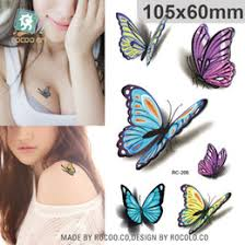 discount small butterfly tattoo stickers 2017 small butterfly